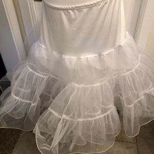 Other - White petticoat. Never worn. NWOT.